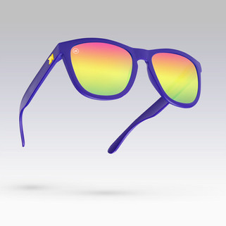 A commercial advertising cinemagraph showing the different build-your-own combinations of designer Knockaround sunglasses.