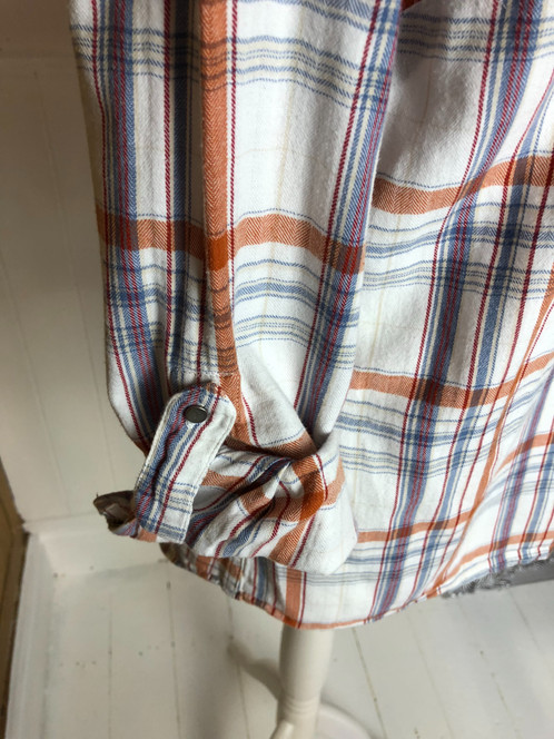 TU Rust/Blue Checked Shirt - Size 18