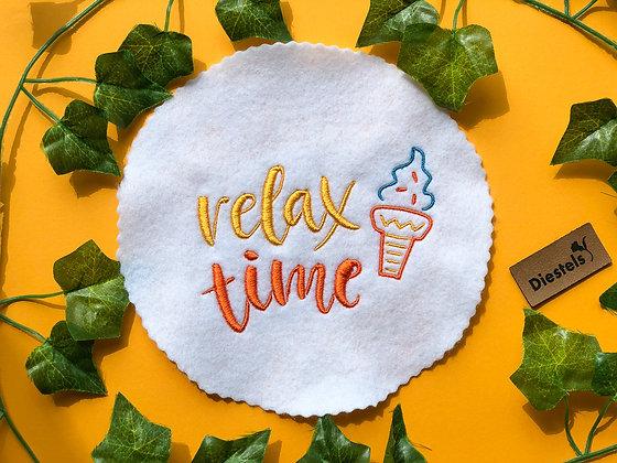 """Stickdatei Spruch """"Relax Time"""""""