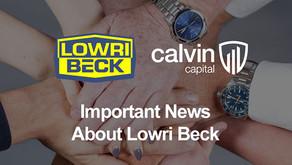 Calvin Capital to Acquire Lowri Beck