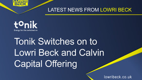 Tonik Switches on to Lowri Beck and Calvin Capital Offering