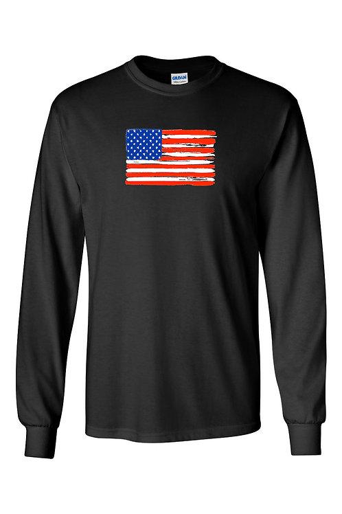 Men's/Unisex United States of America Flag USA Pride  Long Sleeve T-Shirt