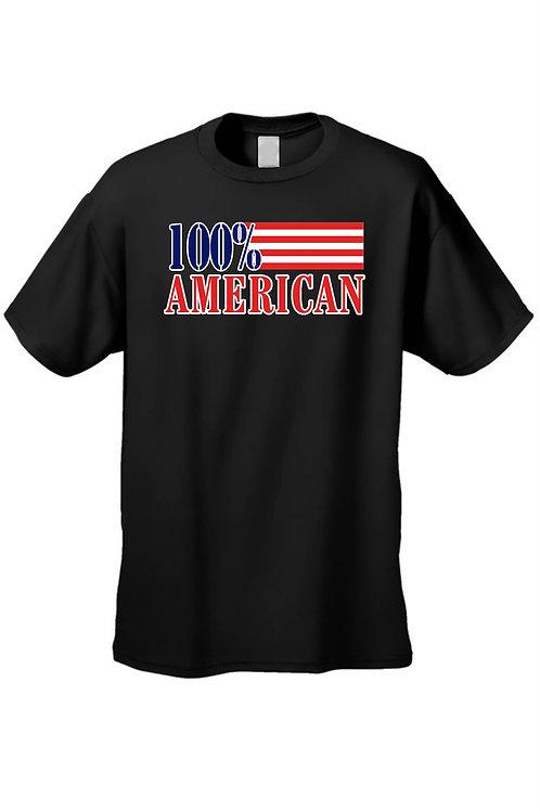 USA Flag T Shirt Men's 100% American Short Sleeve Tee