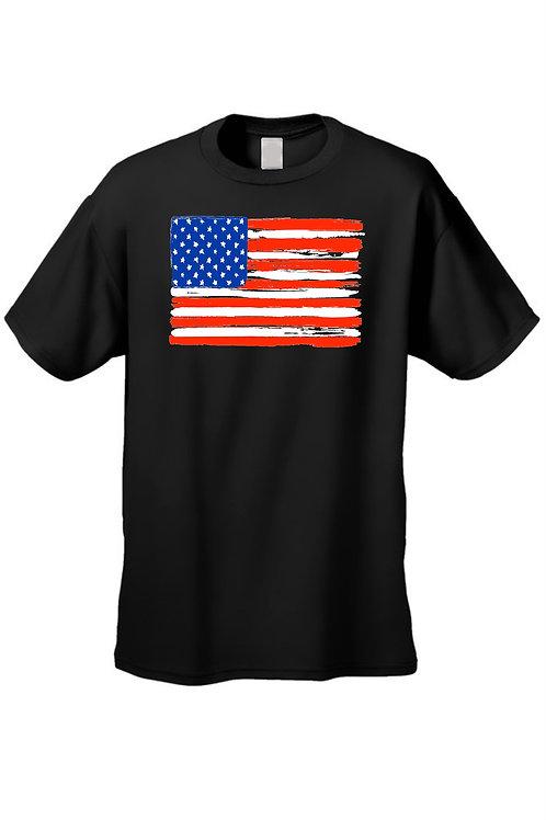 USA Flag T Shirt Men's American Painted Pride Short Sleeve Tee
