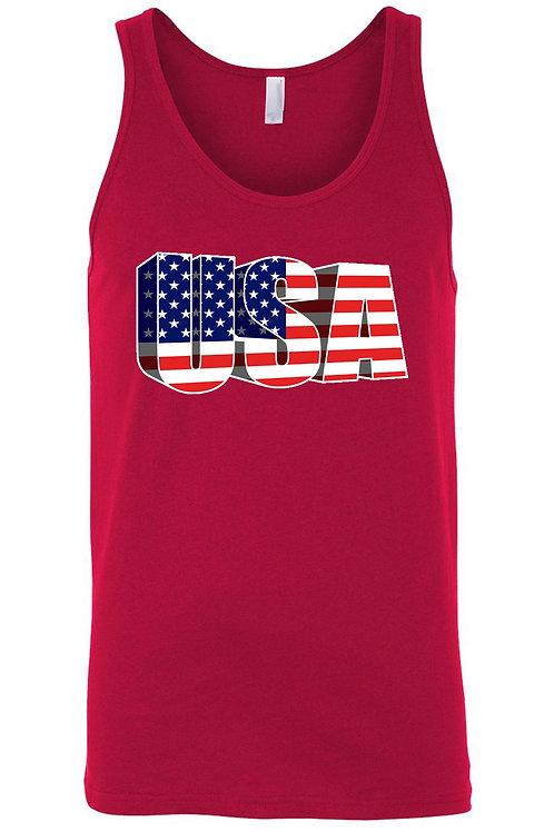USA Flag Tank Top Men's 3D American Pride