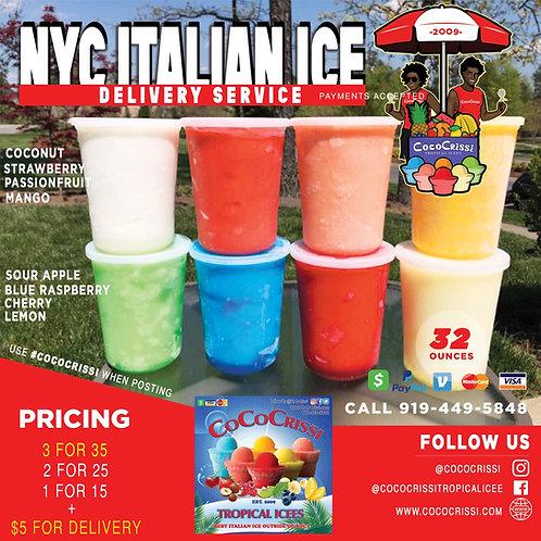 32 oz. NY-style Italian Ice Drop Ship (8 Tubs)
