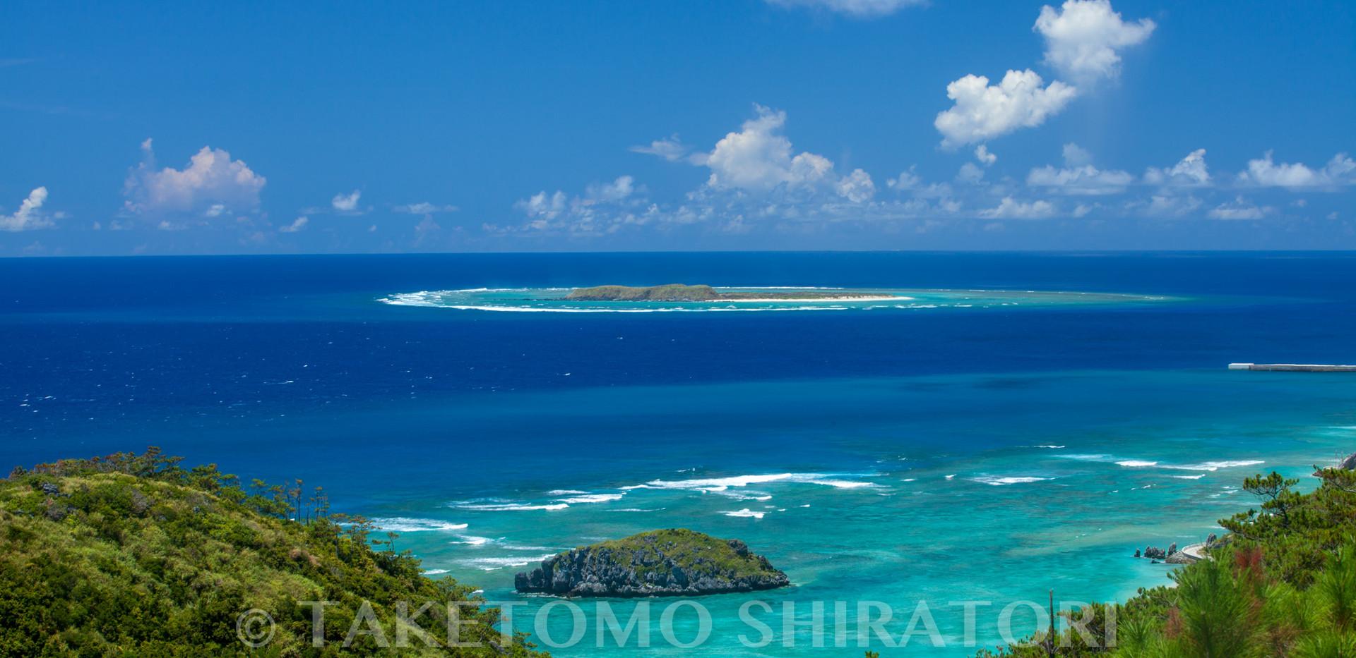 真夏の入砂島(渡名喜島)