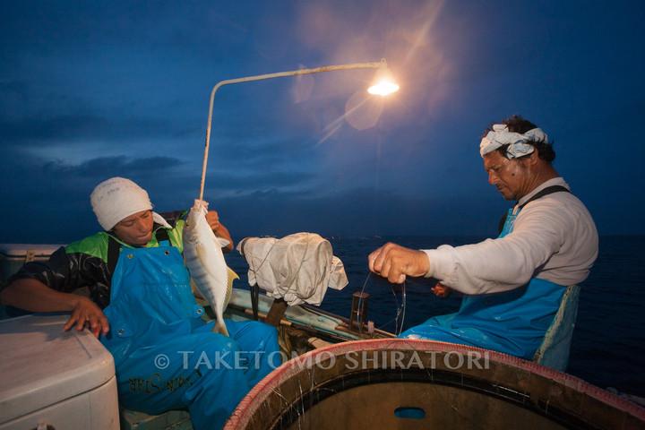 ヘーナー(はえ縄)漁(沖縄本島)