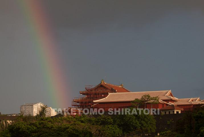 雨後の首里城