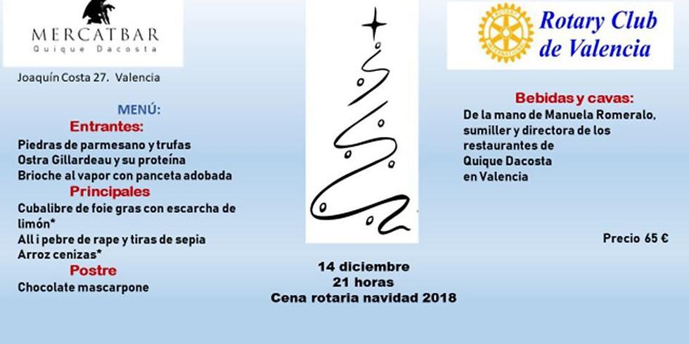 Cena rotaria navidad 2018 14 diciembre 21 horas