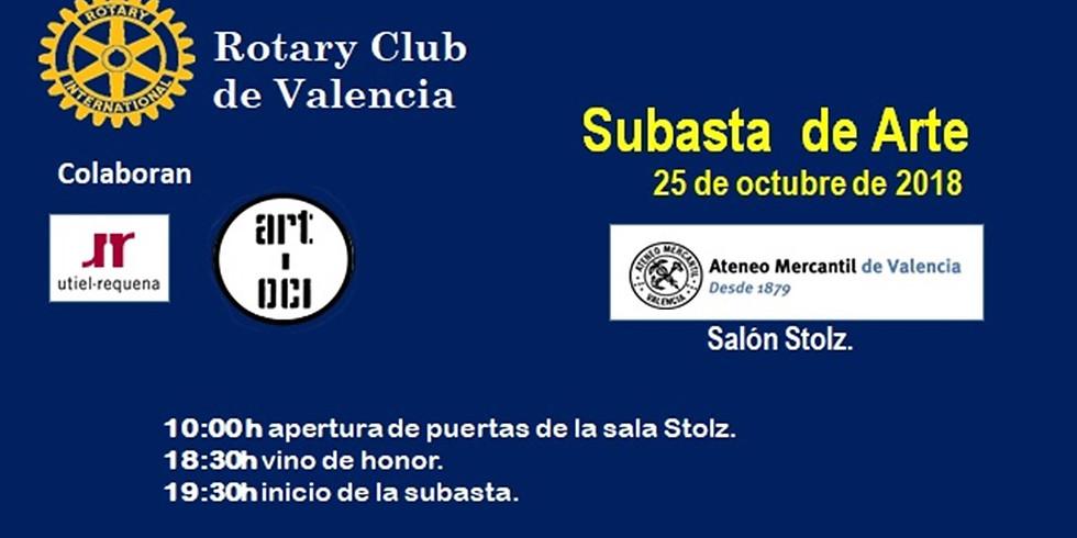 SUBASTA BENEFICA DE ROTARY CLUB VALENCIA EN ATENEO VALENCIA