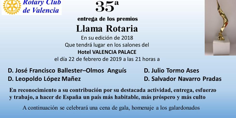 Rotary Club de Valencia 35 entrega de los premios Llama Rotaria  (1)
