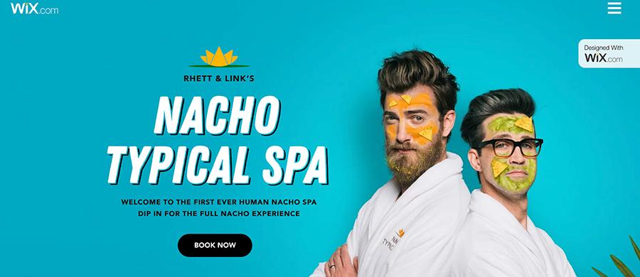 Wix Nacho Spa Campaign
