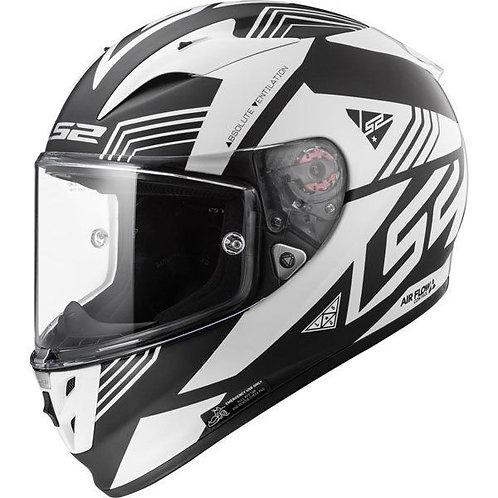LS2 FF323 Arrow R Evo Neon Matt Black/Gloss White