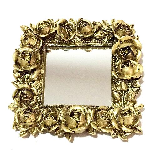 497 - Espelho moldura florzinha