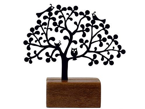 mini árvore renda coruja - Eleonora Hoshino