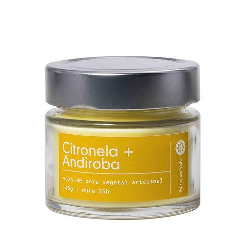 Vela Perfumada: Citronela e Andiroba  No.210 - 145g