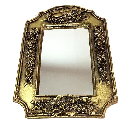 848 -Espelho moldura flor