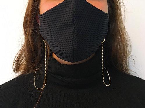 Kit Porta máscara corrente bolinha dourada