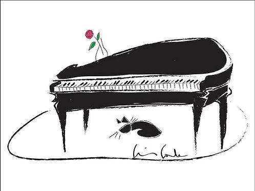 Piano e Gatinho - Cris Conde