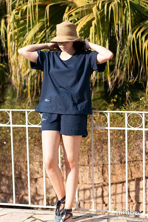 Loungewear algodão orgânico shorts