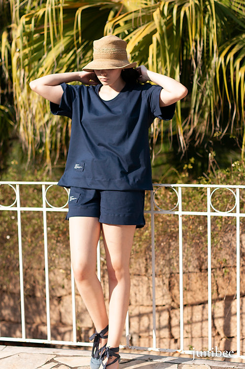 Loungewear junibee algodão orgânico shorts
