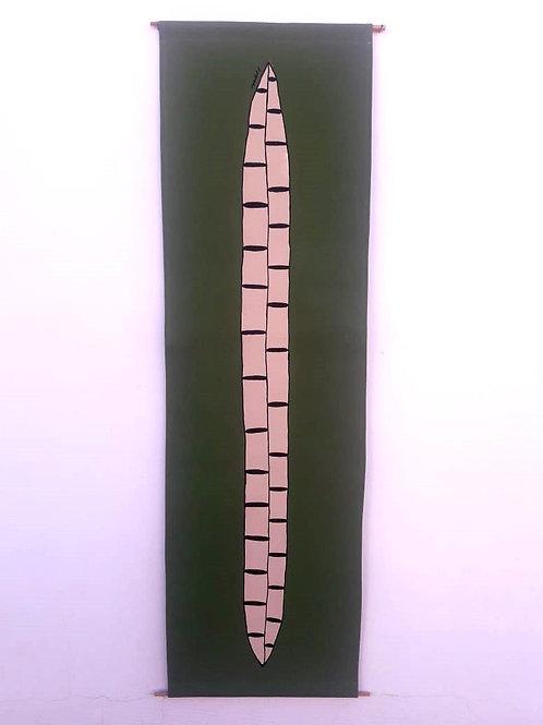 Painel de parede Fava verde - Ivone Rigobello