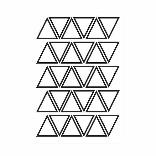 Adesivos de parede Triângulos Contorno