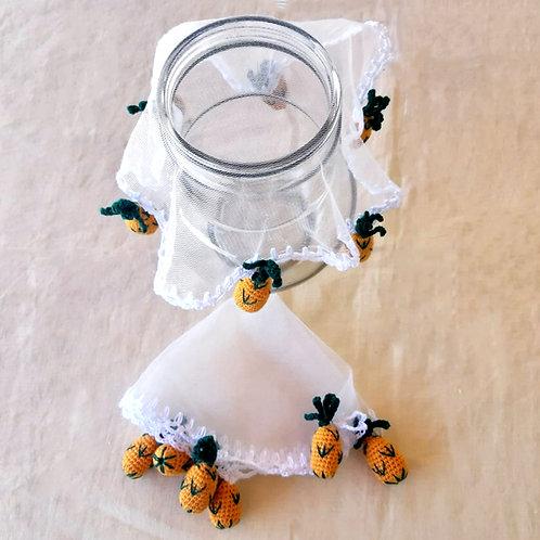 Cobre jarra Abacaxi