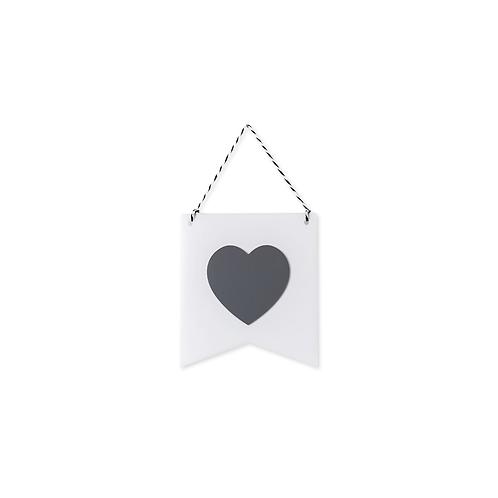 Estandarte Coração Branco