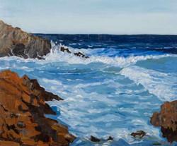 Crashing Waves on Rocks #0256H