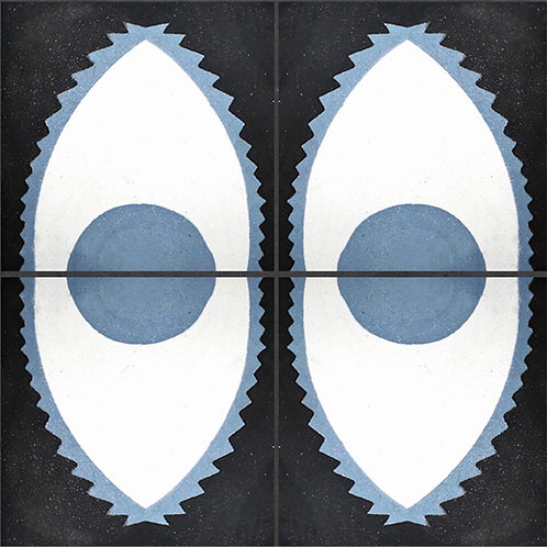 Ladrilho Hidráulico Dente de Peixe