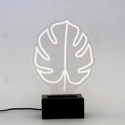Luminária de Mesa Costela de Adão - LED Verde