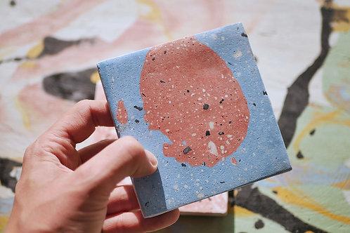 Porta copo granilite abstracto
