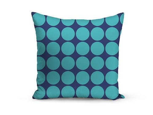 Almofadas bolas azul marinho