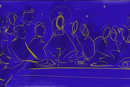 Santa Ceias em Azul e Ouro - Cris Conde