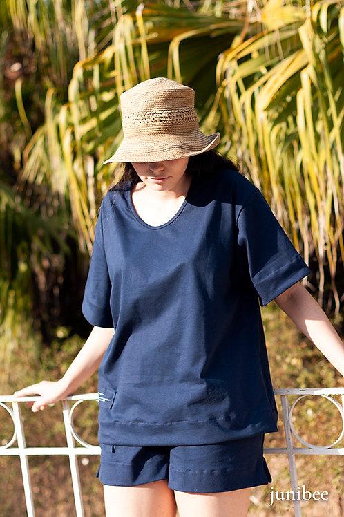 Loungewear junibee algodão orgânico top  manga curta