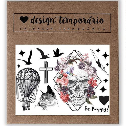 Cartela Tatuagem temporária Lúdica - Design Temporário