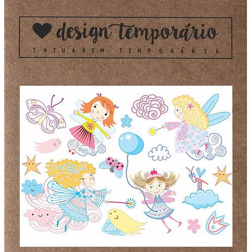Cartela Tatuagem temporária Bailarina - Design Temporário