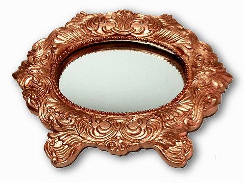 405 - Espelho oval com pé