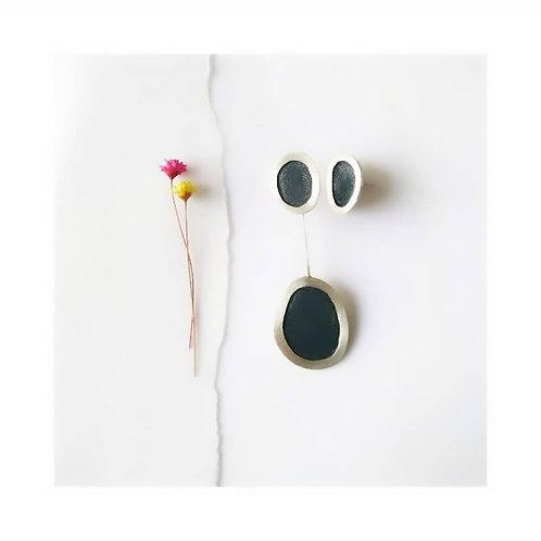 Brinco Abrolhos Negro Assimétrico Negro - Vivi Correa