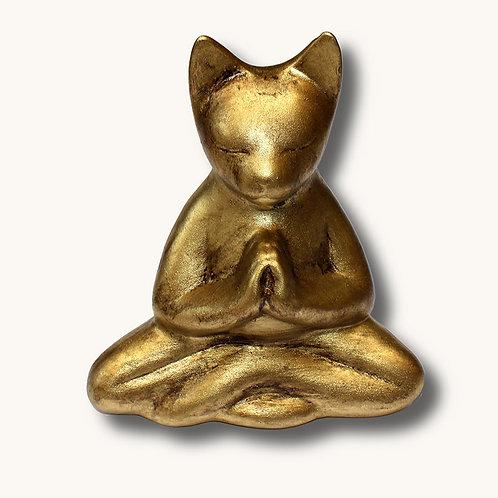 665 - Escultura gato yogue 2