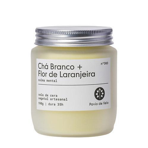 Vela Perfumada: Chá Branco+Flor de Laranjeira No.303 - 190g