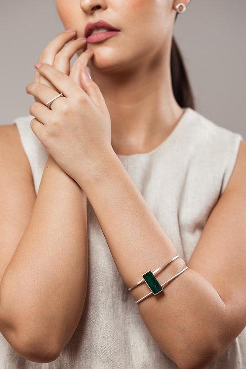 Bracelete Esmeralda bruta