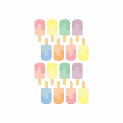 Adesivos de parede Picolés Candy Colors