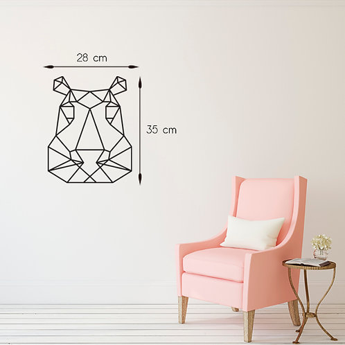 Hipopotamo geometrico - Santa Ana Design