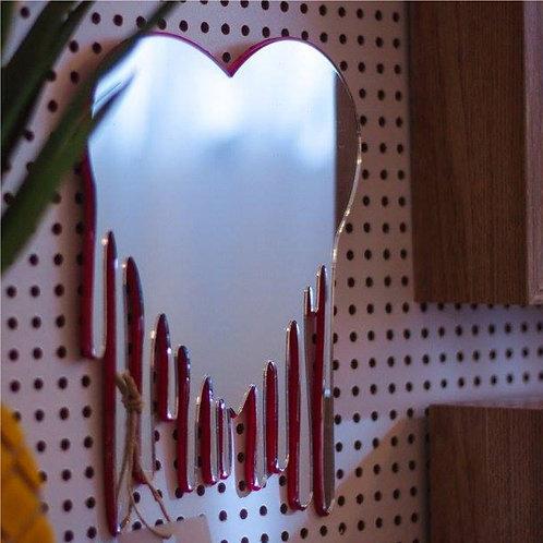 Espelho Coração Derretido - Wall Done