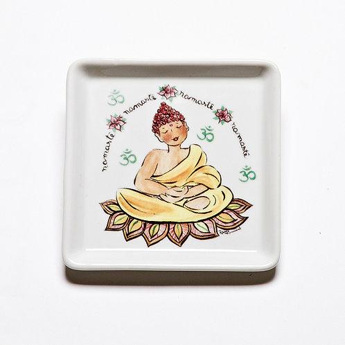Prato Quadrado Pequeno Buda | Oriente - Atelier Patricia Virmond