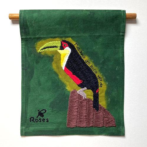"""Panô """" Tucano-do-bico-verde ( Ramphastos dicolorus)"""