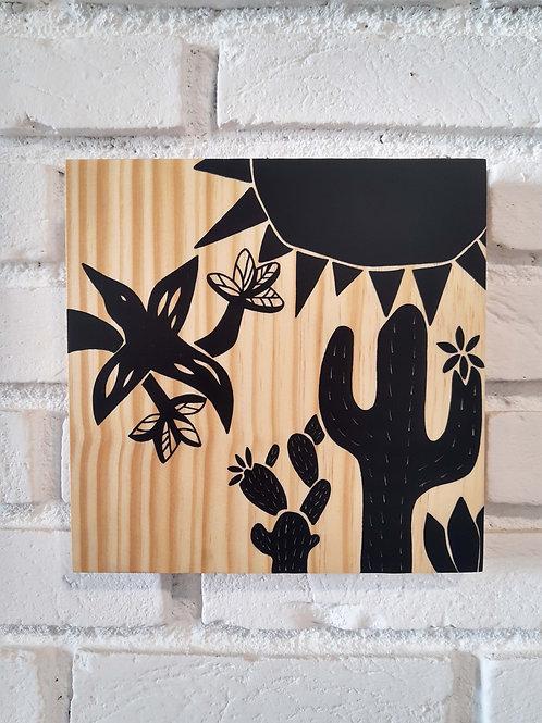 "Placa decorativa ""Cordel Beija-flor"""